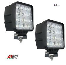 2 PCS 16 LED 48W 12V 24V LED Work Light Spot Beam Lamp 4WD Jeep SUV ATV Offroad