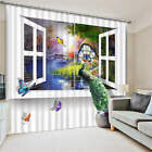 Window to Paradise Country Rive 3D Blockout Photo Printing Curtains Draps Fabric