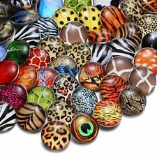 50pcs/lot Animal Striae Pattern 18mm Snap Button For Snap Jewelry KZHM047