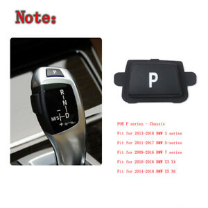 """Gear Shift Knob Lever P Button Cover For BMW F Chassis 3"""" 5"""" 7"""" X3 X4 X5 X6"""