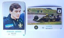 2 Vintage Portuguese Calendars  AYRTON SENNA - LOTUS RENAULT 1986 Collection