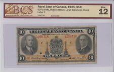 1935 THE ROYAL BANK OF CANADA $10 DOLLAR 1250716 LARGE SIGNATURES BCS F-12 NOTE