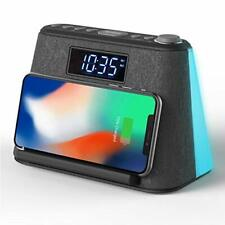 New ListingAlarm Clock Bedside Non Ticking Lcd Alarm Clock with Usb Charger & Black