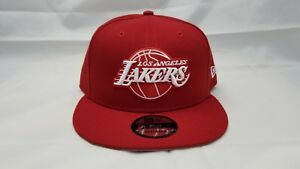 NEW ERA 9FIFTY ADJUSTABLE SNAPBACK HAT.  NBA. LOS ANGELES LAKERS.  RED.