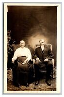 Portrait Older Couple Man & Woman RPPC Real Photo Postcard Divided Back