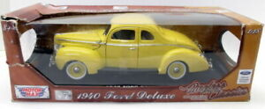 Motormax 1/18 Scale Diecast - 73108 1940 Ford Deluxe Light yellow