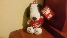 NWT Plush Snoopy Happy Valentines Day Clip on
