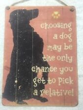 Rectangle Dogs Puppies Decorative Plaques & Signs