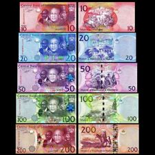 Lesotho Banknotes complete set,  10 20 50 100 200 Maloti all in UNC condition