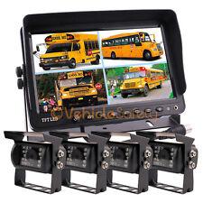"9"" Quad Monitor CCD Color Reversing Camera Backup Camera Rear View Camera System"