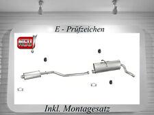Auspuffanlage Peugeot Partner 1.1 1.4 1.8 Auspuff + Montagesatz Neu ...