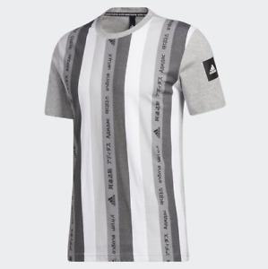 Adidas Men's Must Haves Tee Shirt, Medium Grey Heather / Black