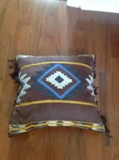 Croscill Southwestern Square Pillow, Fringe, Brown, 16 X 16, NWOT