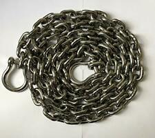 """Stainless Steel 316 Windlass Anchor Chain 10mm (3/8"""") DIN766 by 20' w/ shackles"""
