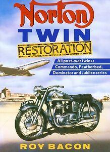 Norton Twins Restoration Roy Bacon 7 77 88 99 650SS Dominator Motorcycle Book