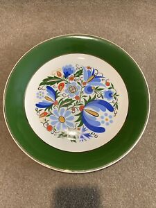 Lubiana Made In Poland Wall Plate 32cm Green