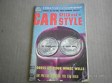 CAR SPEED AND STYLE MAGAZINE  MAY 1959...HOW TO DRESS UP YOUR WHEEL WELLS