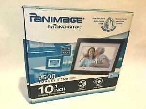 """🖼️Pandigital PanImage PI1003DW 10.1"""" Backlit Digital Frame·Black·2500 Images"""