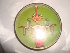 Old vintage Air India Air Lines Co. Plastic Round Puzzle Game from India 1970
