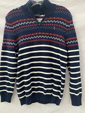 Girl's Izod Lacoste Multi-color Striped Sweater Size X Large 14-16
