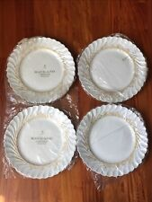 Set of 4 Haviland Limoges 'Ladore' Dinner Plates w/ Gold Floral~France