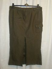 SEXY Ladies GUESS JEANS brown long centre split skirt sz L great co LOVELY