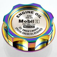 M7 Neo Chrome Billet Oil Filler Cap With Mobile One Emblem JDM For Honda Acura