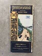 1950's Pennsylvania Road Map