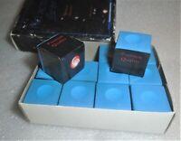 1 BOX BLUE PREMIUM QUALITY CHALK PACK (12 PIECES) - POOL & BILLIARD CUE CHALK