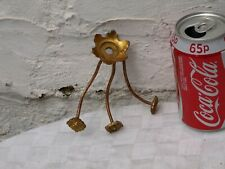 VINTAGE RECLAIMED CHANDELIER BRASS BOBECHE WITH 3 STEMS