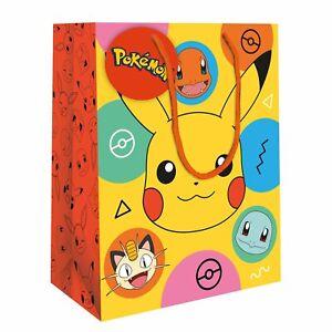 LARGE Official POKEMON Pikachu Birthday GIFT BAG 33x26x14cm Character Game Kids