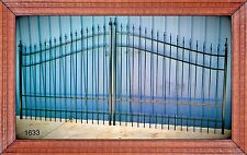 Custom Built Driveway Gate 12ft Wide. Double Swing, Handrails,Beds, Steel. Iron
