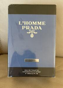 Prada L'Homme L'Eau Eau De Toilette Perfume 100ml New *Sealed Box Corner Damaged
