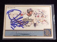 ORLANDO HUDSON 2011 TOPPS ALLEN GINTERS Autographed Signed AUTO Card 323 PADRES