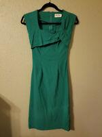bettie page tatyana pencil dress green size small