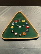 Pool Ball Billiards Rack Triangle Wall Clock Kirch Industries Pool Hall Bar