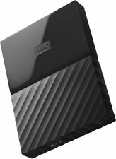 WD My Passport Portable Hard Drive - 1 TB Auto Backup Password Protection BLACK