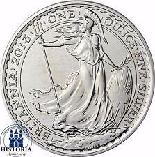Großbritannien 2 Pfund Britannia 2013 Stempelglanz Silbermünze in Münzkapsel