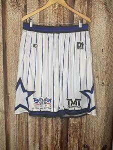 TMT The Money Team Floyd Mayweather Shorts White Blue 2XL
