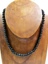 Perlenkette Halskette Naturschmuck Schwarz Holz Surfer Karibik Ethno UNISEX NEU!