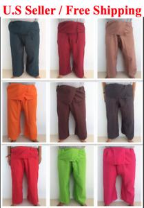Unisex Thai Fisherman Pants/ Wrap/ Yoga/ Exercise Free Size