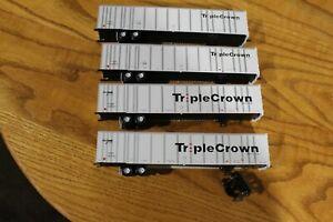 RTR Bowser Triple Crown HO Scale Roadrailer Lot Of 4