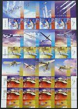 Israel 2013 Flugzeuge Airplanes Aircraft Luftfahrzeuge Kleinbögen Postfrisch MNH