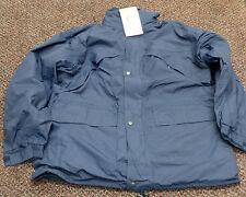 Men's Blue Jacket Waterproof Heavy Duty Fleece Workwear Coat - L / XL