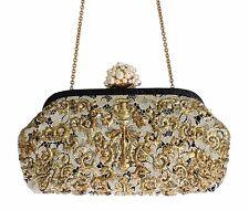 Nuovo Dolce & Gabbana Miss Dea Oro Pizzo Perle di Cristallo Coccodrillo
