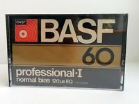 BASF PROFESSIONAL I 60 BLANK AUDIO CASSETTE TAPE NEW RARE 1976 YEAR USA MADE