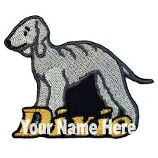 Bedlington Terrier Dog Custom Iron-on Patch Personalized