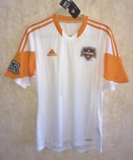 ADIDAS MLS 2013 Houston Dynamo Away Replica Jersey White Orange NEW Mens Sz M L