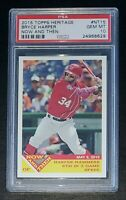 2015 Topps Heritage Now and Then #NT15 Bryce Harper PSA 10 GEM MT