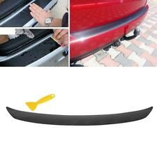4D Car Rear Bumper Tail Protection Auto Trunk Sticker Trims Carbon Fiber Black